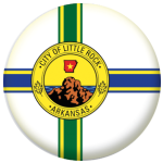 Little Rock (Arkansas) Flag 58mm Fridge Magnet